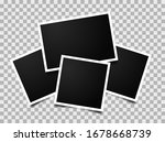 composition of empty photo... | Shutterstock .eps vector #1678668739