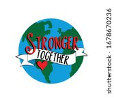 stronger together text with... | Shutterstock .eps vector #1678670236