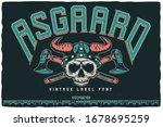 vintage label font named... | Shutterstock .eps vector #1678695259