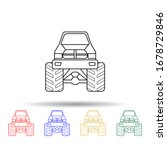 bigfoot car front multi color...