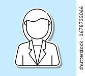 business woman avatar sticker...
