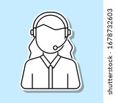 customer service woman avatar...
