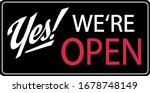 Yes  We\'re Open Corona Virus...