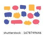 chat balloon flat design... | Shutterstock .eps vector #1678749646