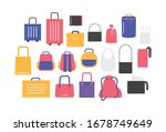 luggage travel bag illustration ... | Shutterstock .eps vector #1678749649