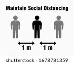 social distancing keep your... | Shutterstock .eps vector #1678781359