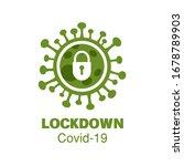 corona virus covid 19 lock down ... | Shutterstock .eps vector #1678789903