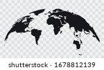 world map globe isolated on... | Shutterstock .eps vector #1678812139
