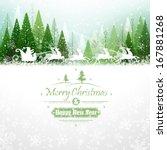 Santa Claus Rides In A Reindee...