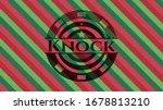 knock christmas emblem. vector... | Shutterstock .eps vector #1678813210