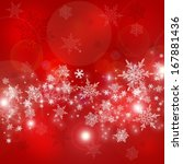 red christmas background with...   Shutterstock . vector #167881436