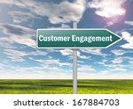 signpost customer engagement | Shutterstock . vector #167884703