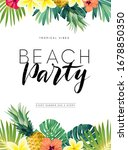 green summer tropical... | Shutterstock .eps vector #1678850350