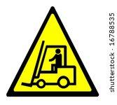 warning sign   forklift truck | Shutterstock . vector #16788535