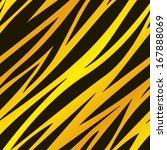 a golden zebra striped...   Shutterstock .eps vector #167888069