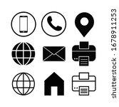 business card icon set modern... | Shutterstock .eps vector #1678911253