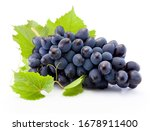 Fresh Of Blue Grapes With...