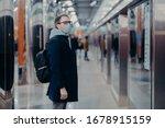 Horizontal Shot Of Man Traveler ...