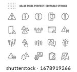 simple set of warnings related... | Shutterstock .eps vector #1678919266