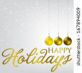 elegant bauble christmas card... | Shutterstock .eps vector #167894009