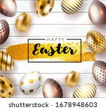 happy easter card with... | Shutterstock .eps vector #1678948603