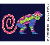 vector cute colorful cartoon... | Shutterstock .eps vector #1678954933
