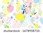 contemporary art pattern. brush ... | Shutterstock .eps vector #1678958710