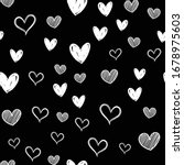 heart doodles seamless pattern. ... | Shutterstock .eps vector #1678975603