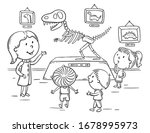 kids on excursion in the... | Shutterstock .eps vector #1678995973