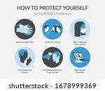 simple coronavirus poster says... | Shutterstock .eps vector #1678999369