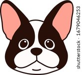 outlined french bulldog front... | Shutterstock .eps vector #1679046253