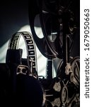 Old Vintage Movie Projector On...