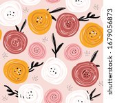 seamless pattern with abstract... | Shutterstock .eps vector #1679056873