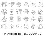 augmented reality line icons.... | Shutterstock . vector #1679084470