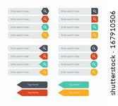 flat web design elements. set...   Shutterstock .eps vector #167910506