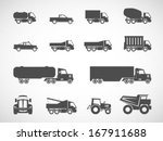 Truck icons.vector - stock vector