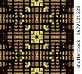 textured tapestry gold tartan...   Shutterstock .eps vector #1679121523