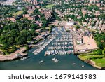 Small photo of Aerial view of New Rochelle New York marina