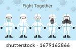 asian group of doctor wear...   Shutterstock .eps vector #1679162866