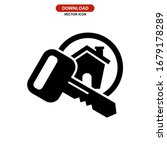 key icon or logo isolated sign... | Shutterstock .eps vector #1679178289