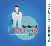 happy doctor's day greeting...   Shutterstock .eps vector #1679194933