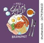 full english breakfast.... | Shutterstock .eps vector #1679196610