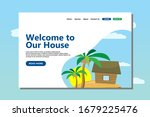 vector illustration   house in...