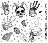 witchcraft set of occult medium ... | Shutterstock .eps vector #1679259496