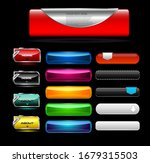 glossy web menu and button  | Shutterstock .eps vector #1679315503