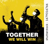 together we will win banner ... | Shutterstock .eps vector #1679316766