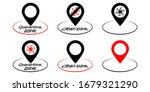 map pins with round zone for...   Shutterstock .eps vector #1679321290