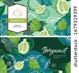 Tea Card Design. Green...
