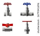 set valves ball  fittings ... | Shutterstock .eps vector #1679341696
