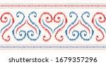 hand drawn red  blue  white... | Shutterstock .eps vector #1679357296